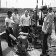 뚝도수원지의 수돗물 증산, 급수시설, 펌프시설 시찰