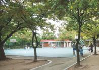 시범아파트 평화공원 내에 있는 농구장