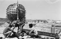 건설중인 대한도시가스 공장