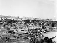 판잣집 56동을 전소시킨 군자동 화재 현장