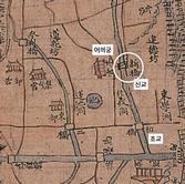 1760년 『한양도』 (부분)
