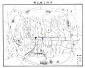 도성 내 청국과 일본인 상점 분포(1895년경)