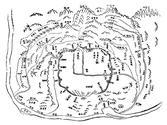 「사산금표도(四山禁標圖)」(목판본, 1765)