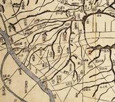 대동여지도(1864, 아현 일대 부분)