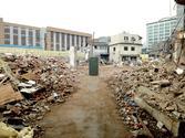 덕수중학교 위쪽의 재개발구역