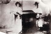 가마에 탄 여성