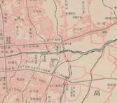 경성도/조선교통지도(전차차고 세부 및 노선, 1924)