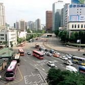 서울역 고가도로 위에서 본 풍경