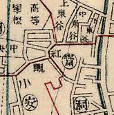 고갯마루 명칭 마을의 지도상 표기 양상(홍현)